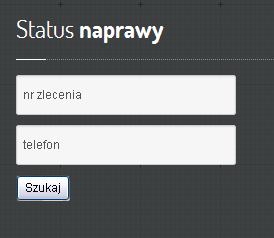 status naprawy